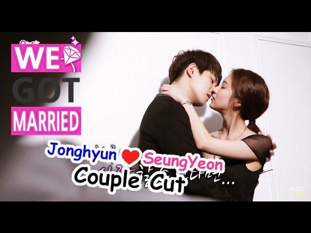 [We got Married4] 우리 결혼했어요 - Jonghyunseungyeon, osculation kiss scene! 종현49849;연,초밀착 키스신 촬영 20150523