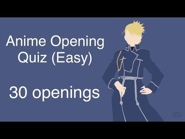 Anime Opening Quiz (Easy)