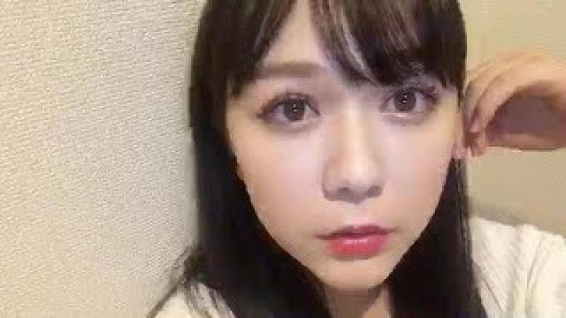 村重杏奈 (HKT48 チームKIV) 2017年09月23日 あーにゃ SHOWROOM 22:03