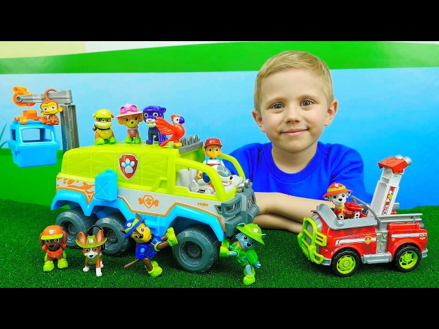 Щенячий Патруль и новый ВЕЗДЕХОД для Джунглей - Paw Patrol and PAW TERRAIN VEHICLE