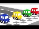 Una nueva PISTA de carreras🚗🚙4 COCHES coloreados🚗🚙 Dibujos animados de coches para niños