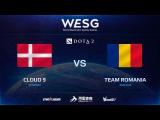 [RU] Cloud 9 vs Team Romania, Game 1, 2016 WESG Dota 2 Grand Final presented by Alipay