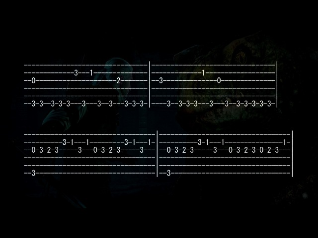 Witcher Music Believe Full Tab for One Guitar Tabs Gtp Fingersyle Soundtrack How to Play