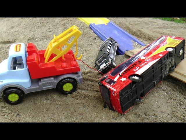 Мультик с игрушками про Автобус Эвакуатор и Корову Игрушки Машинки для Детей