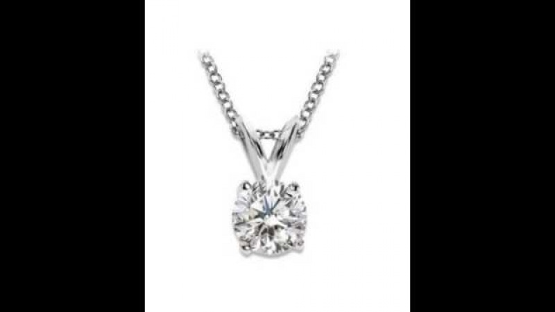 Houston Diamond District 1/2-1.5 Carat 14K White Gold 4 Prong Diamond Pendant Value Collection