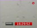 Часы ТВ Центр, 25.03.2011 Из-за метели не видно Москву