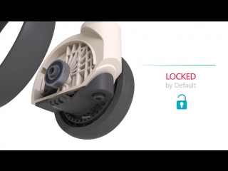 TENTE castors with automatic locking system