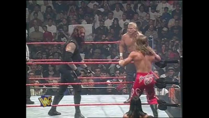 Hunter Hearst Helmsley Shawn Michaels vs. Mankind The Undertaker Raw 1997