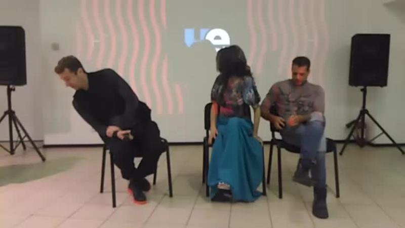 Пресс-встреча с актерами сериала Паук телеканала Чё Валерием Панковым, Алексеем Вакуловым и Майей Вознесенской