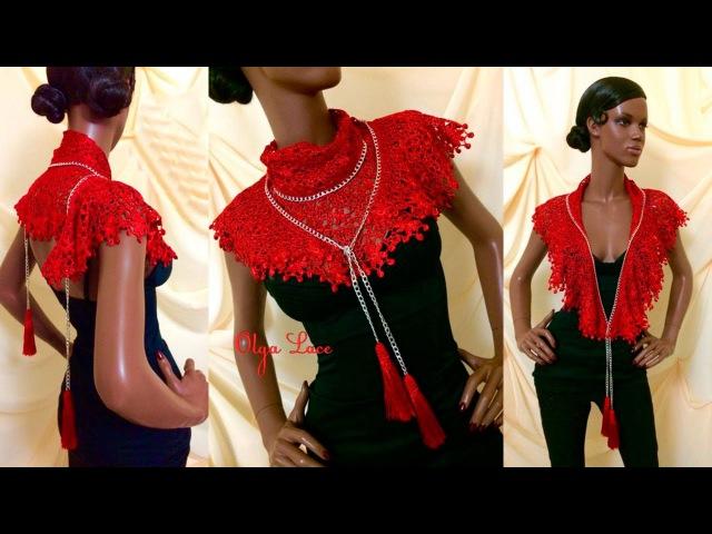 Кружевной платок - бактус от Olga Lace