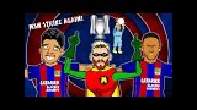 MSN STRIKE AGAIN! Song - Barcelona vs Man City (4-0 Highlights, Goals, Messi Hattrick)