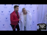 Aaron Carter and Adam Lambert at the Project Angel Food 2017 Angel Awards Gala at Project Angel Food