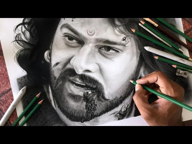 Drawing Baahubali ( PRABHAS ) realistic sketch