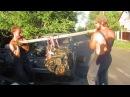Как снимать двигатель голыми руками Russians pull the engine with their bare hands