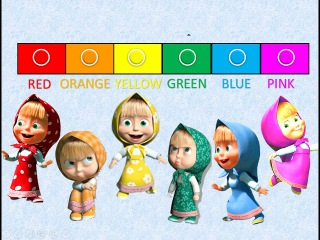 New colors Masha and The Bear. Learn Colors. Video for kids and toddlers