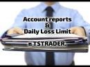 Ограничение убытков и работа с отчётом торговли в платформе TRADOVATE.