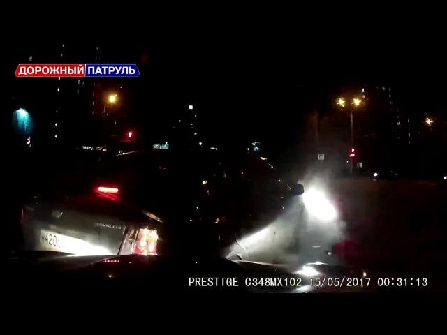 [Дорожный патруль] Лобовое столкновение. Уфа (15.05.17)