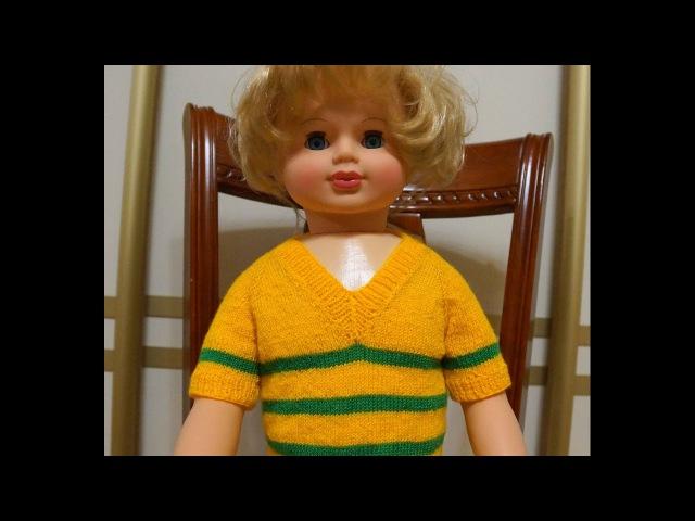 Свитер реглан спицами. Реглан с V образным вырезом. Детский свитер спицами. (Raglan with cut-out)
