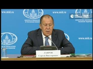 Ежегодная пресс-конференция главы МИД России Сергея Лаврова по итогам 2016 года