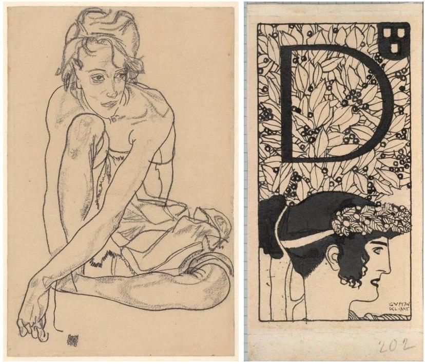 """Выставка """"Рисунки Климта и Шиле из собрания музея Альбертина, Вена"""""""