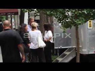Selena Gomez On Set Of Woody Allen's Movie In New York, NY 9/14/ 2017