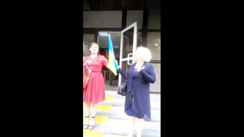 З криком Слава Україні! і прапором в руках Неля Штепа вийшла з СІЗО: