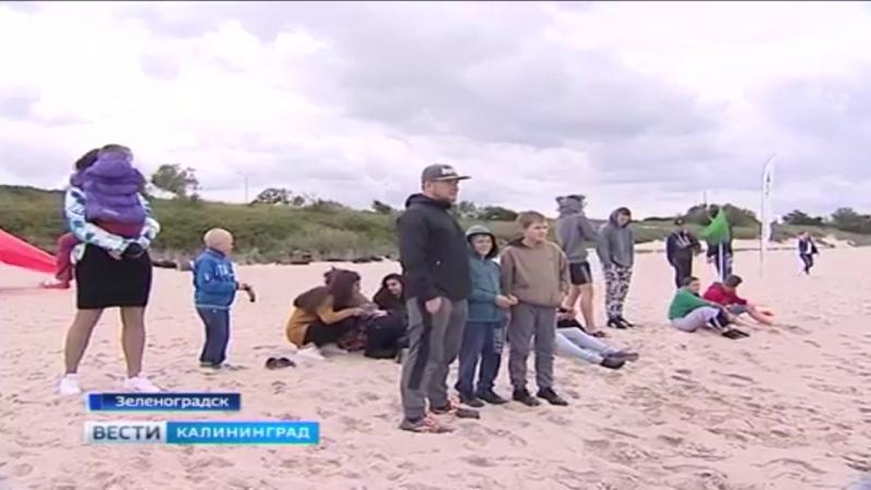 В Зеленоградске юные серферы оседлали свою первую волну