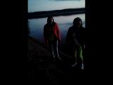 Я на озере с друзьями в Красной Далине.