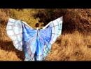 Крылья батик сине зелёные с визуальными эффектами