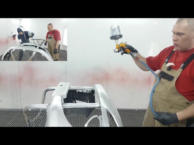 Как научиться красить часть 3 Техника окраски бамперов. Auto Body Bumper Paint Video Training