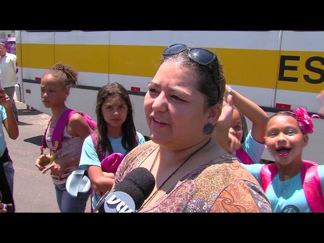 Pais de alunos de escolas estaduais reclamam de condições do transporte escolar em Campinas