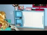 How to make a Sliding Door Cabinet for doll (Monster High, Barbie, etc)