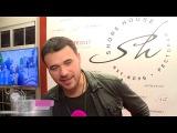 Эмин Агаларов целуется на большом экране!