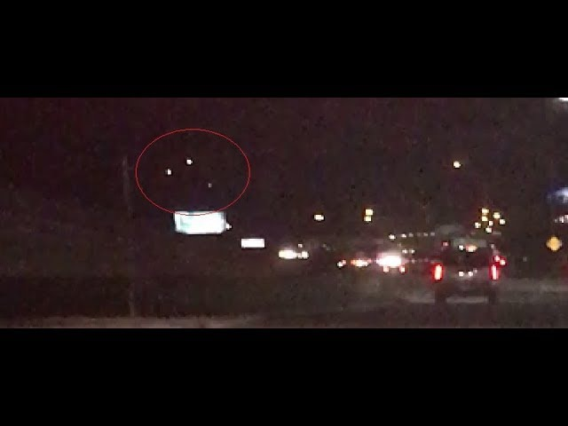Triangle UFO Craft Ominously Hovers Over Katy Texas Roadway September 2017