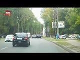 Переворот кроссовера на ровном месте в Брянске сняли на видео
