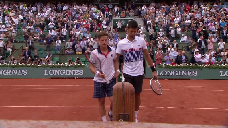 Теннис. Ролан Гаррос 2017. Джокович в пяти сетах победил Шварцмана и вышел в 4-й круг