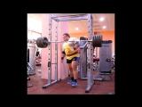 Жим стоя 140 кг на 4 повтора