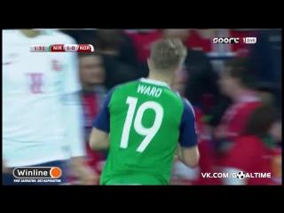 Северная Ирландия - Норвегия 1:0. Джейми Уорд