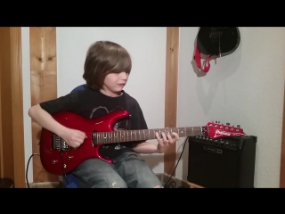 Dustin Tomsen 12 years old covers Eruption of Van Halens first album.