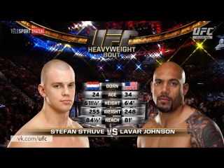 Fight Night Rotterdam Free Fight  Stefan Struve vs Lavar Johnson