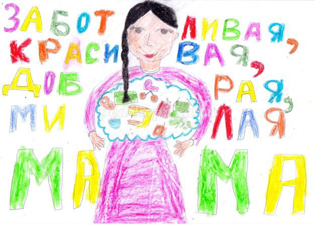 Как нарисовать открытку на день рождения маме от дочки своими руками