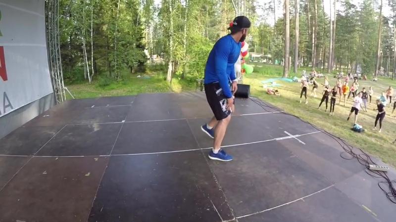 Функциональная тренировка 'DYNAMIKA' Презентер: Павел Фатыхов FINTESS OPEN AIR 2017 Йошкар-Ола❗️👏🏼❤️