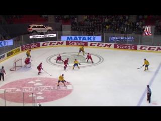 Шведские хоккейные игры. Швеция - Россия - 2:4. Голы и опасные моменты