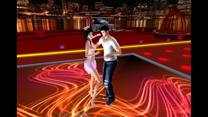 Second Life Я и моя очаровательная жена танцуем бачату в клубе ^_^ под шикарную музыку