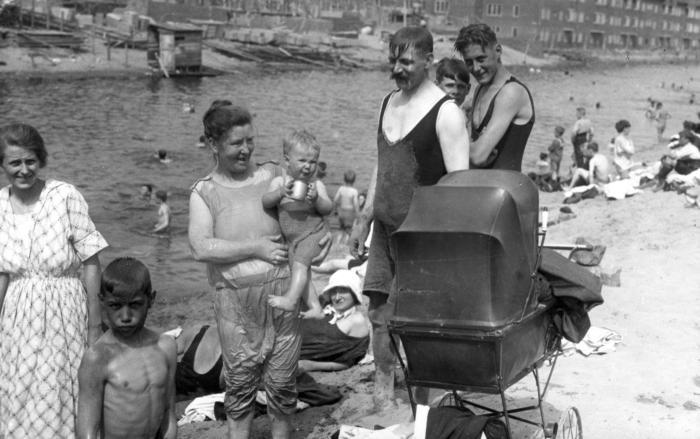 Городской пляж, Амстердам, 1923 год.