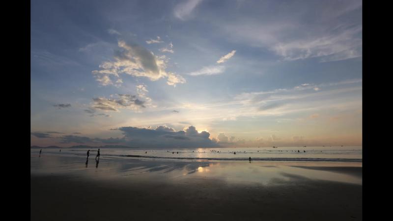 Time Lapse sunrize in Vietnam