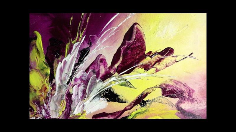 Purple Feeling - Einfach Malen - 10min. Abstract - Easy Painting
