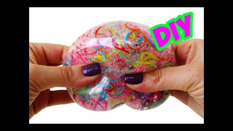 DIY МЯЧИК АНТИСТРЕСС С РЕЗИНКАМИ DIY Orbeez Stress Ball