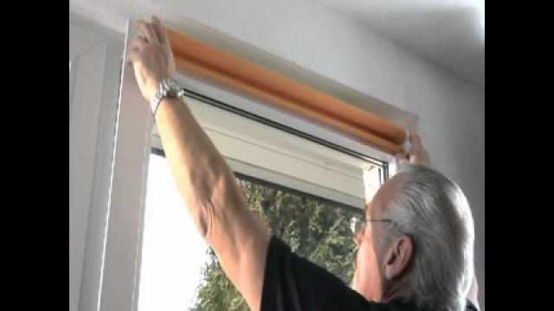 Монтаж рулонных штор Gardinia