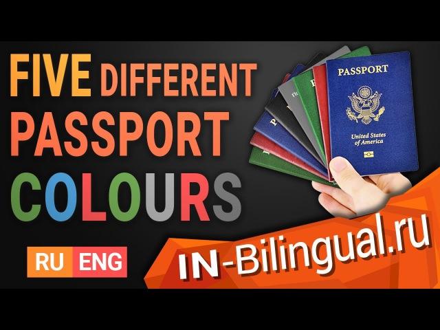 Пять разных цветов паспорта / Five different passport colours